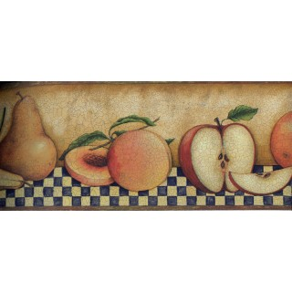 5 in x 15 ft Prepasted Wallpaper Borders - Fruits Wall Paper Border 30902350