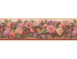 Daisy Rose Cherry Wallpaper Border