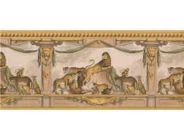 Prepasted Wallpaper Borders - Gold Lion Molding Wall Paper Border