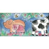 Clearance: Kids Cartoon Piggy Wallpaper Border