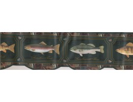 Prepasted Wallpaper Borders - Yellow Perch Wall Paper Border