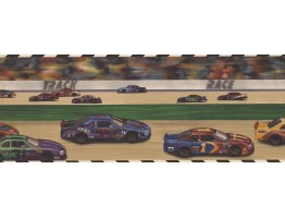 Prepasted Wallpaper Borders - Car Race Kids Wall Paper Border