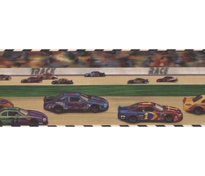 Boys Wallpaper Borders: Car Race Kids Wallpaper Border