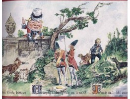 Prepasted Wallpaper Borders - Humpty Dumpty Jack and Jill Wall Paper Border