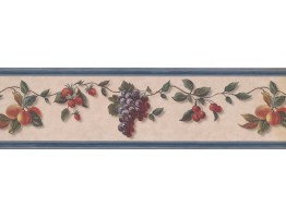 Prepasted Wallpaper Borders - Fruits Wall Paper Border 40926150