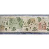 Garden Wallpaper Borders: Running Paper Plant Wallpaper Border