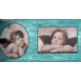 Faith and Angels Two Cute Baby Angels Wallpaper Border York Wallcoverings
