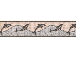 Tiled Dolphine Wallpaper Border