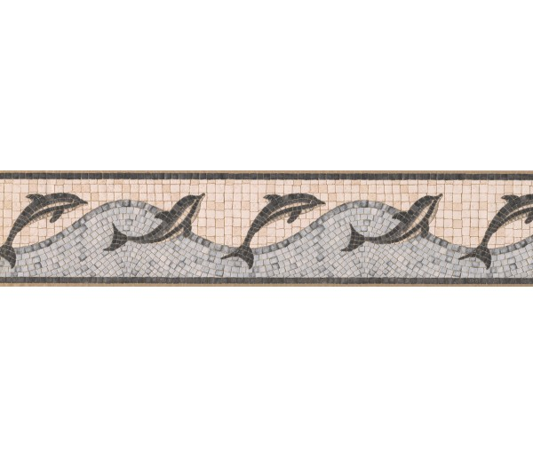 Sea World Wall Borders: Tiled Dolphine Wallpaper Border