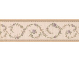 Prepasted Wallpaper Borders - Floral Wall Paper Border 51306220