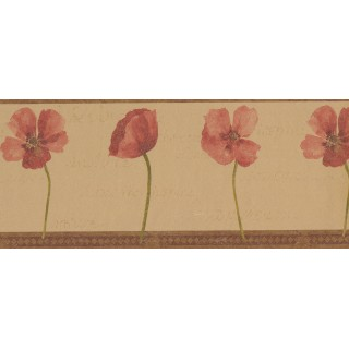 10 1/4 in x 15 ft Prepasted Wallpaper Borders - Red Rose 51466140B Wall Paper Border