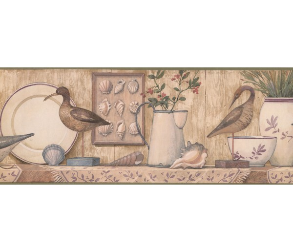 Prepasted Wallpaper Borders - Blue Duck Kitchen Wall Paper Border