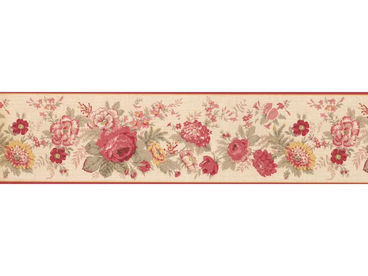 Floral Wallpaper Borders Red Rose 5507100b Wallpaper B
