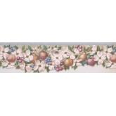 Garden Wallpaper Borders: Apple Peach Berries Wallpaper Border