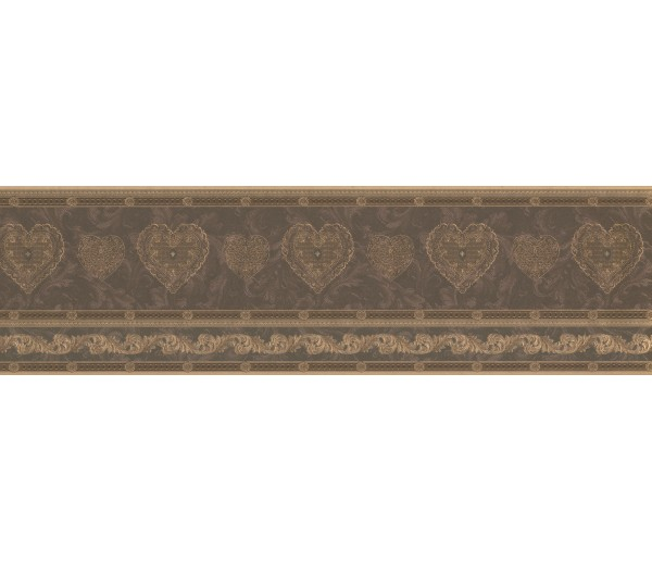 Vintage Borders Gold Scrolls Molding HEARTS Wallpaper Border