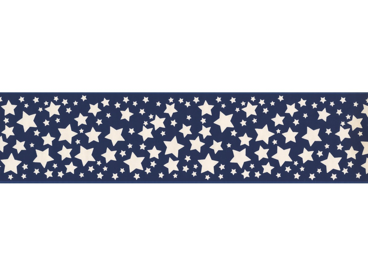 Blue Stars Wallpaper Border
