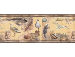 Prepasted Wallpaper Borders - Sea Gull Wall Paper Border