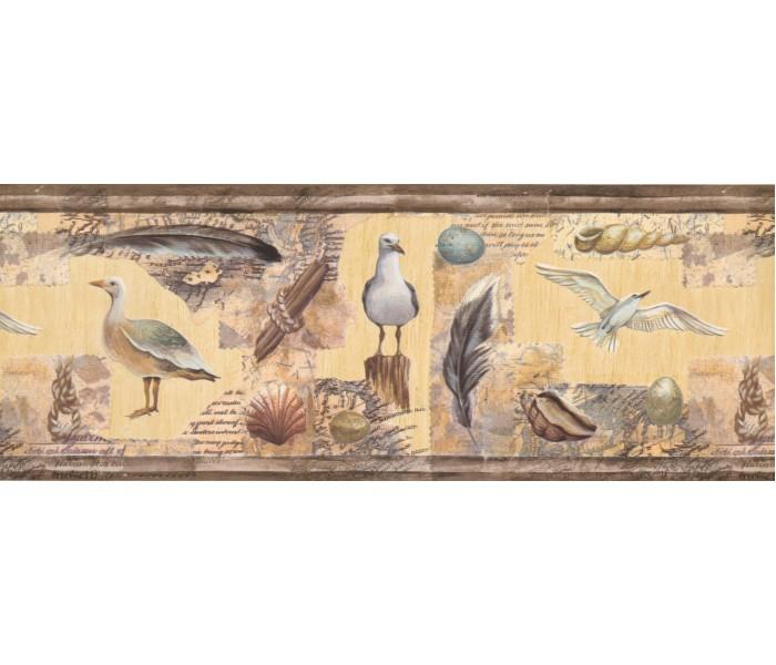 Birds  Wallpaper Borders: Sea Gull Wallpaper Border