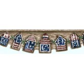 Novelty Wallpaper Borders: Brown Welcome Americana Wallpaper Border