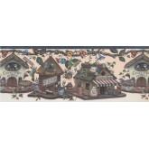 Prepasted Wallpaper Borders - Kingfisher Bird Houses Wall Paper Border