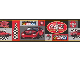 Prepasted Wallpaper Borders - Coca-cola Nascar Wall Paper Border