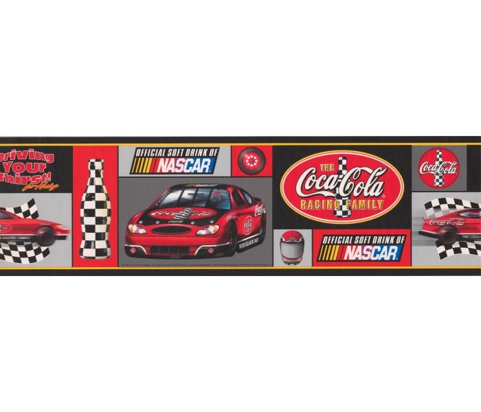 Cars Wallpaper Borders: Coca-cola Nascar Wallpaper Border