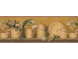 Bronze 5812135B Dishes Wallpaper Border