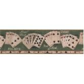 Novelty Wallpaper Borders: Beige Poker Combination Wallpaper Border