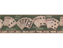 Beige Poker Combination Wallpaper Border