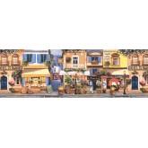 City Lavender Street Cafe Wallpaper Border York Wallcoverings