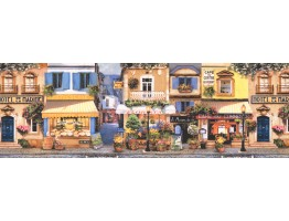 Lavender Street Cafe Wallpaper Border