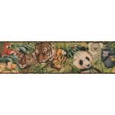 Jungle Wallpaper Borders: Brown Black Animal Print Wallpaper Border