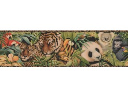 Brown Black Animal Print Wallpaper Border