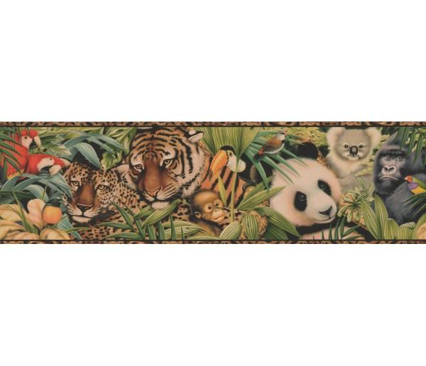 Jungle Brown Black Animal Print Wallpaper Border York Wallcoverings
