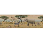 Jungle Wallpaper Borders: Wild Animals Forest Wallpaper Border