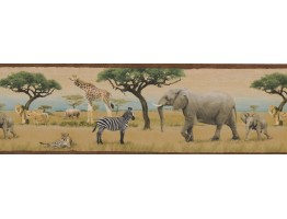 Prepasted Wallpaper Borders - Wild Animals Forest Wall Paper Border