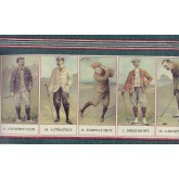 Golf Wallpaper Borders: Folf Players on Paper Cutting Wallpaper Border