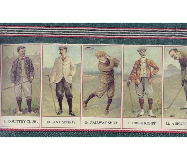Golf Wallpaper Borders: Folf Players on Paper Cutting Wallpaper Border