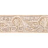 Vintage Wallpaper Borders: White Shell Design Wallpaper Border