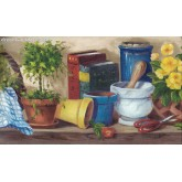 Garden Wallpaper Borders: Books Garden Wallpaper Border