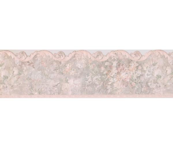 Vintage Wallpaper Borders: Green Glassy Leaf Wallpaper Border