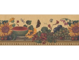 Prepasted Wallpaper Borders - Floral Wall Paper Border 63296110