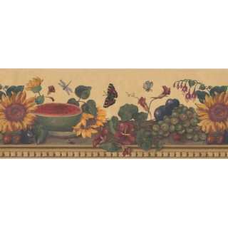 10 in x 15 ft Prepasted Wallpaper Borders - Floral Wall Paper Border 63296110