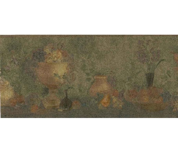 Garden Wallpaper Borders: Grape Vase Kitchen Wallpaper Border