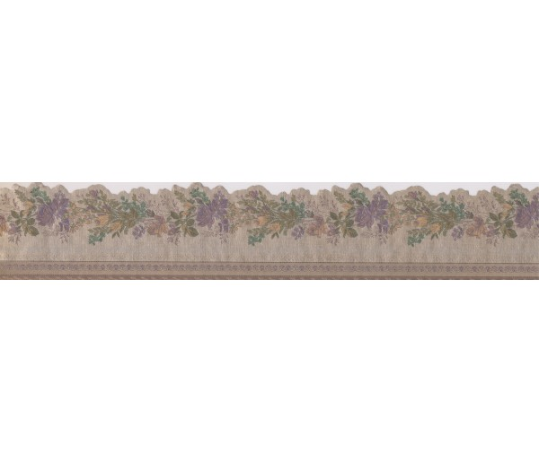 Clearance: Blue Yellow Roses Wallpaper Border