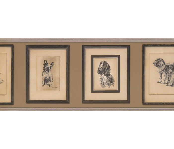Dogs Wallpaper Borders: 687812 Vintage Wallpaper Border