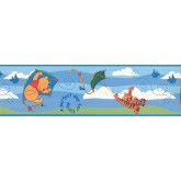 Disney Wallpaper Borders: Disney Winnie Flying Wallpaper Border