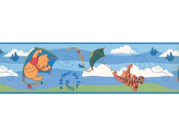 Prepasted Wallpaper Borders - Disney Winnie Flying Wall Paper Border
