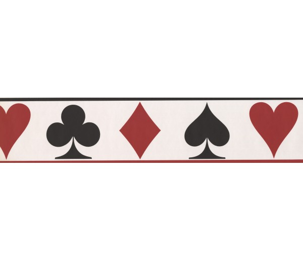 Novelty Borders Casino Diamond Spade Wallpaper Border York Wallcoverings