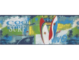 Prepasted Wallpaper Borders - Pacific Skating Boards Wall Paper Border